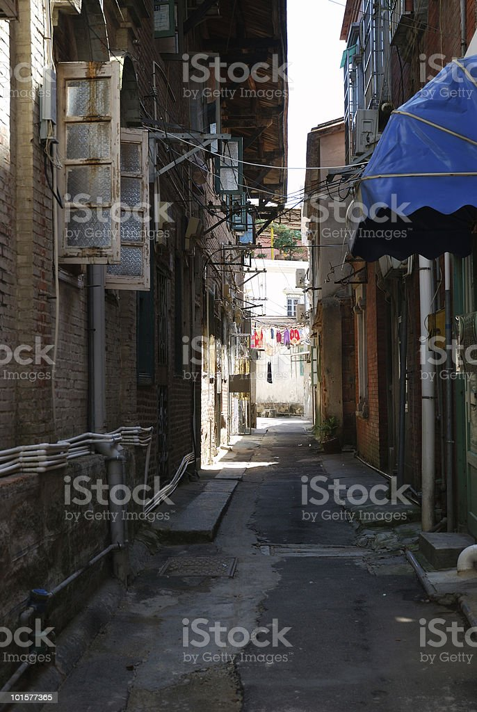 Chinese Alleyway royalty-free stock photo