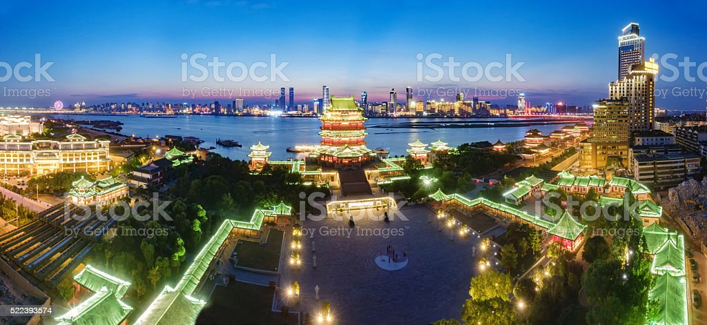 Chinese ancient architecture, ancient religious stock photo