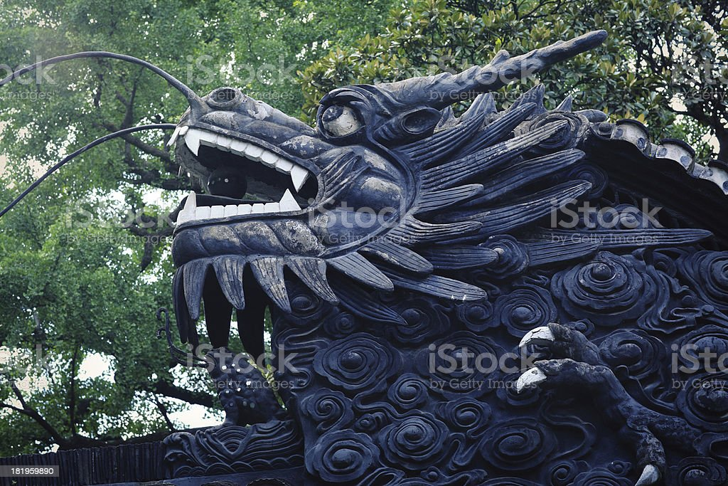 Chinese ancient building eaves royalty-free stock photo