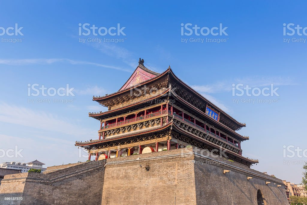 Chinese ancient buildings in Xi'an stock photo