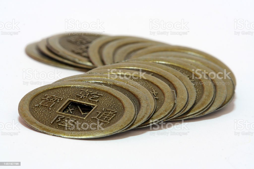 Chinese Ancient Coins royalty-free stock photo