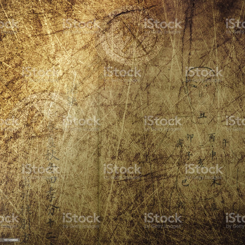 Chinese ancient culture grunge background stock photo