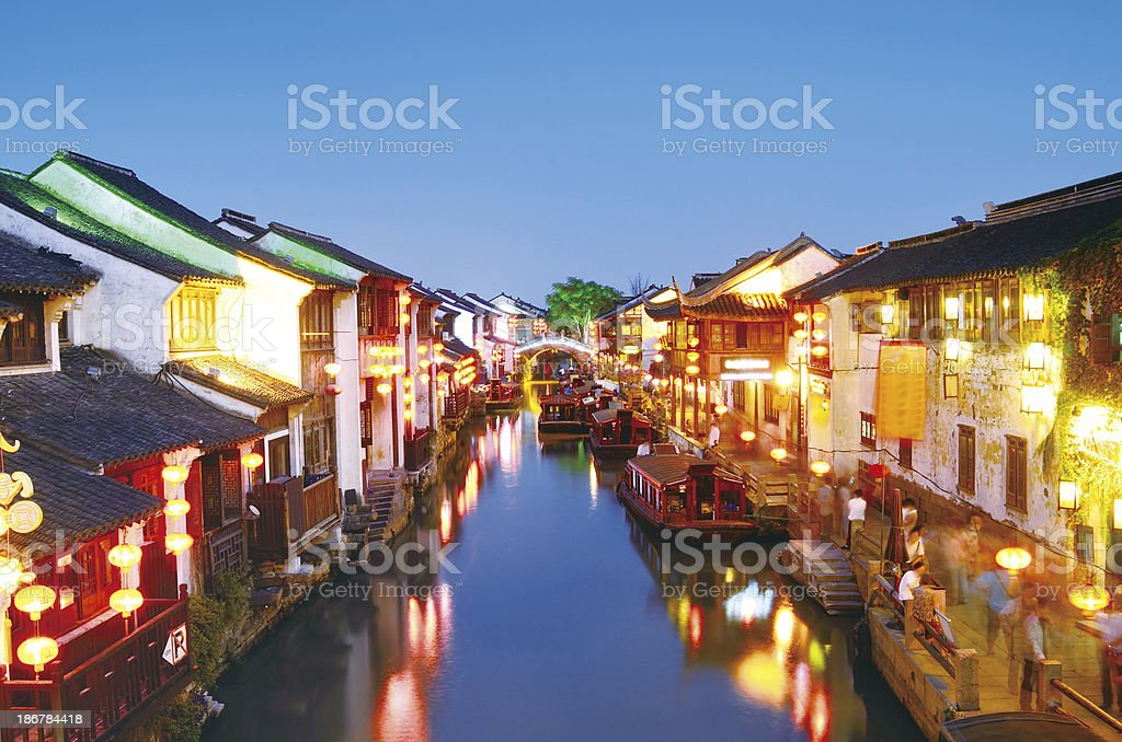 Chinese ancient garden stock photo