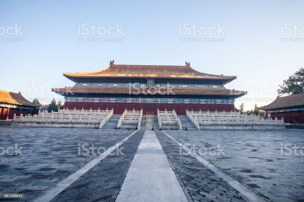 Chinese ancient royal building, the Ancestral Temple stock photo