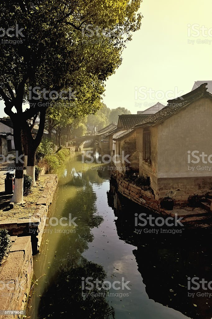Chinese Ancient Town stock photo