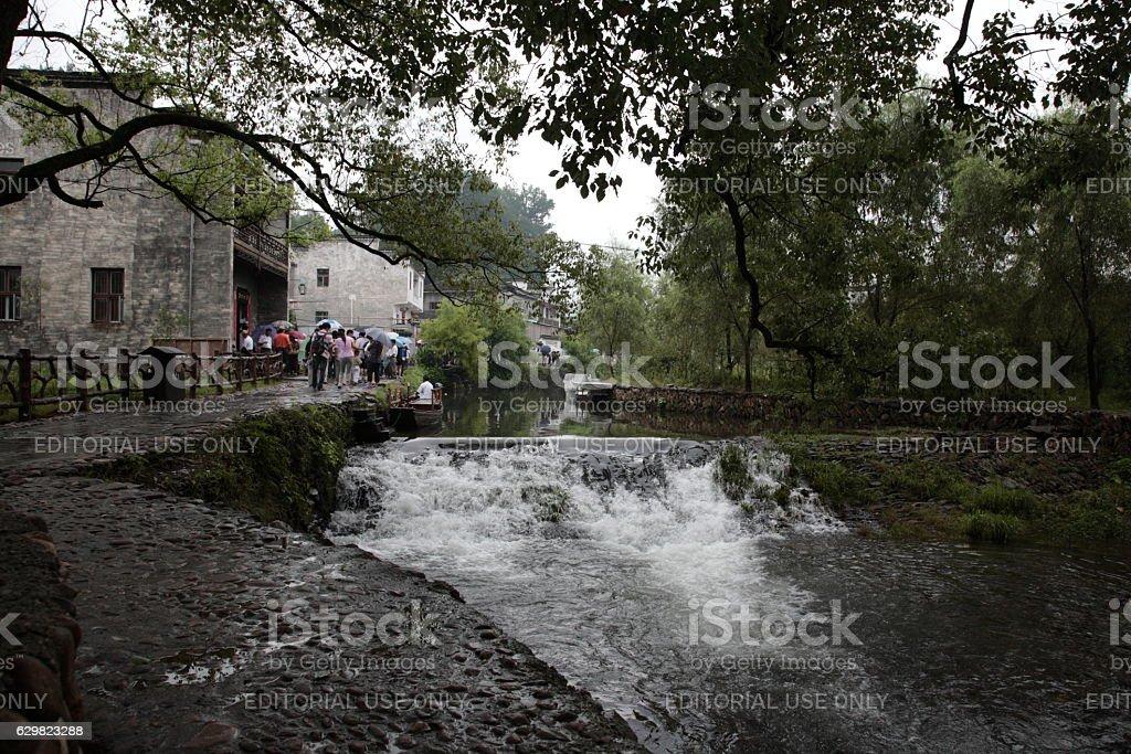 Chinese Ancient Village LiKeng (婺源.李坑) in Wuyuan county, China stock photo