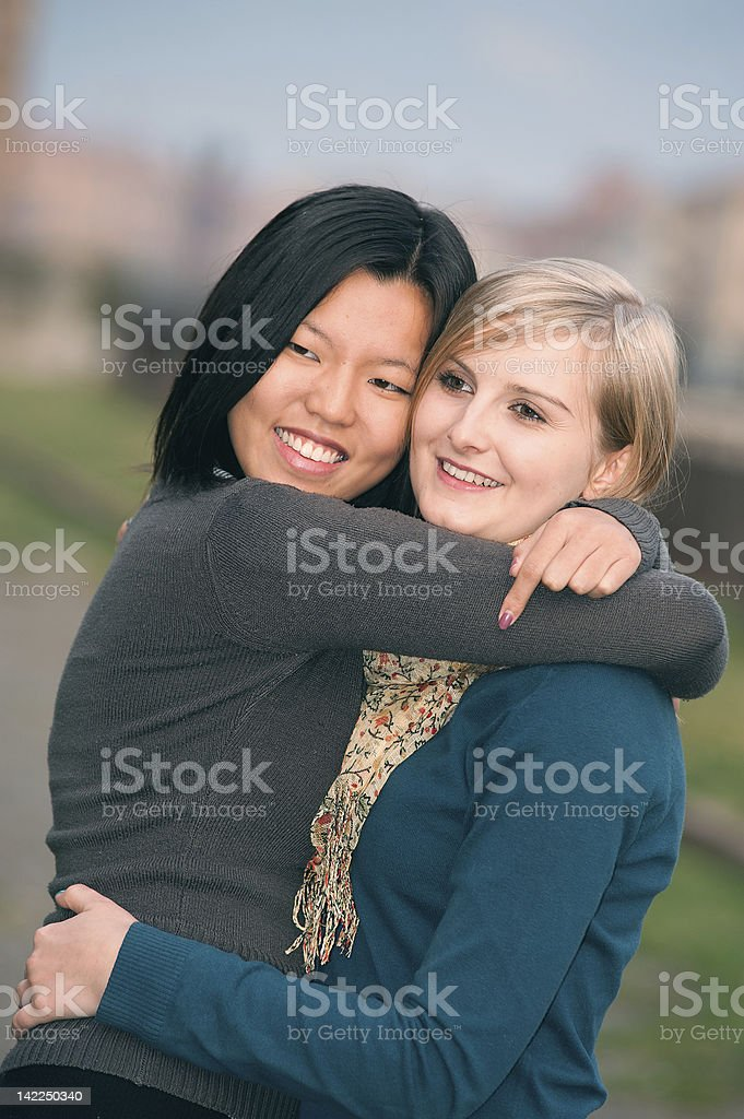 Chinese and Polish Women royalty-free stock photo