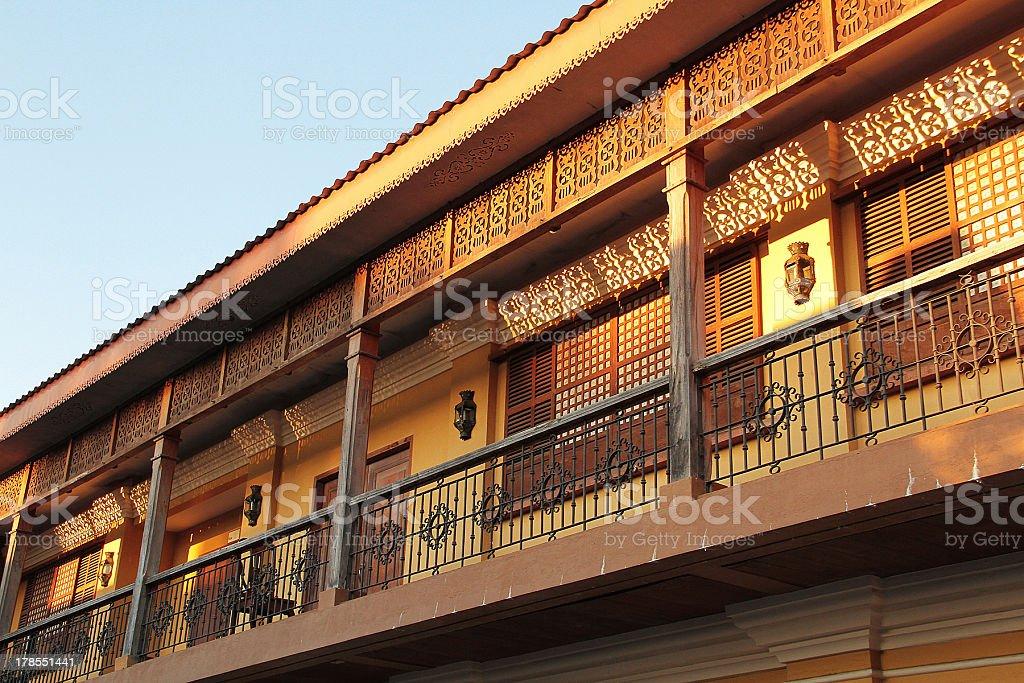 Cinese e le influenze spagnole edificio in Vigan, Filippine foto stock royalty-free