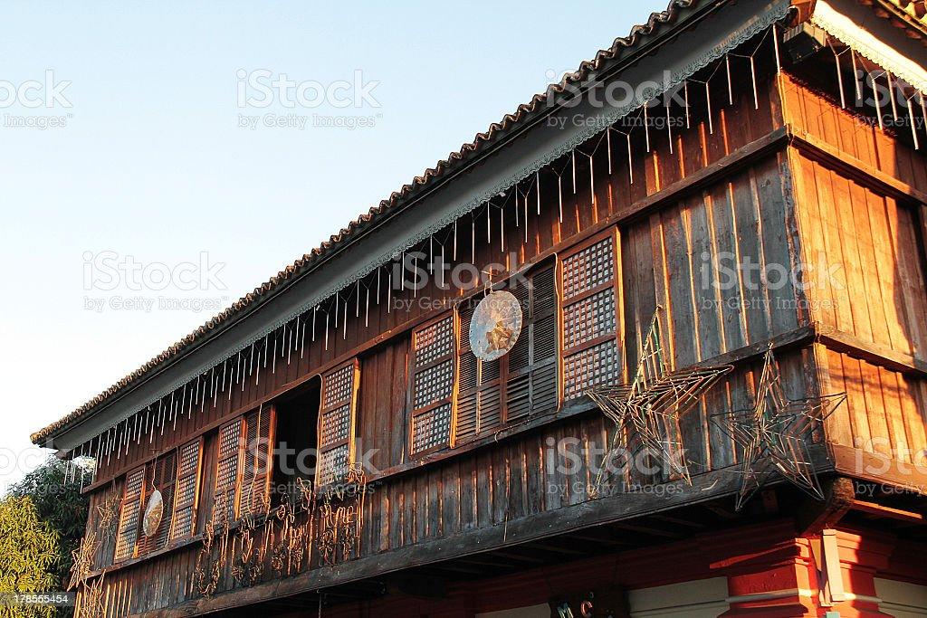 Cinese e le influenze spagnole edificio in Vigan foto stock royalty-free