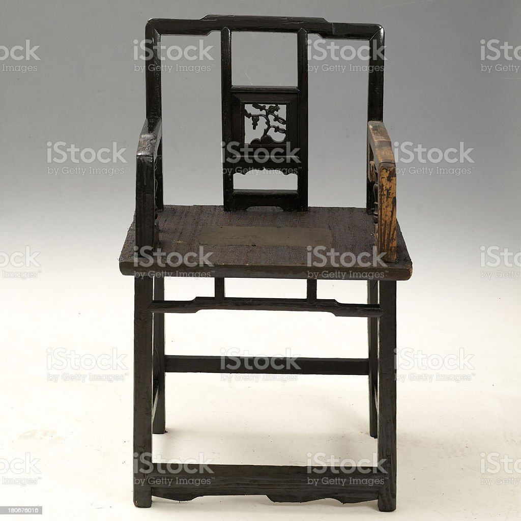 Chinese antique chair stock photo