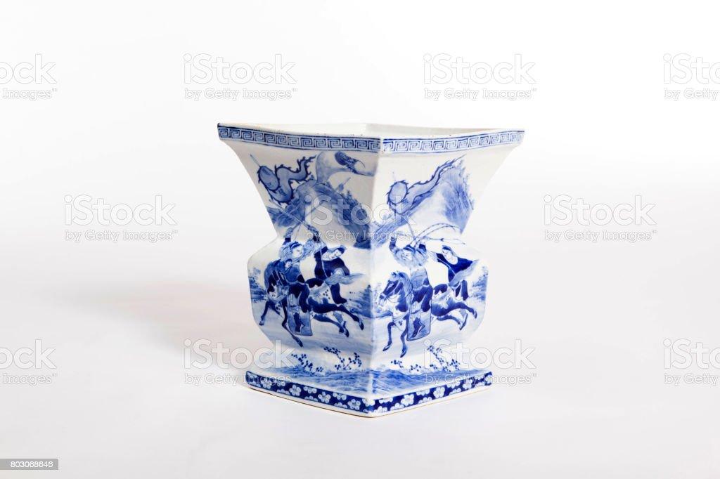 Chinese antique vase stock photo