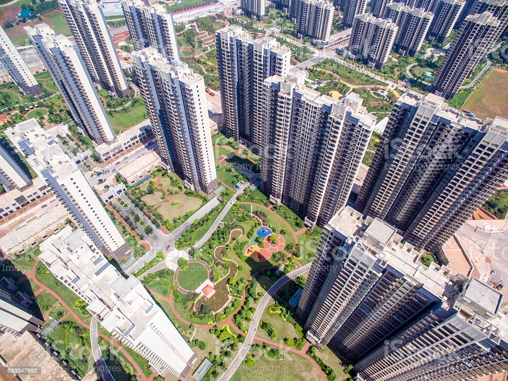 Chinese Apartment Buildings stock photo