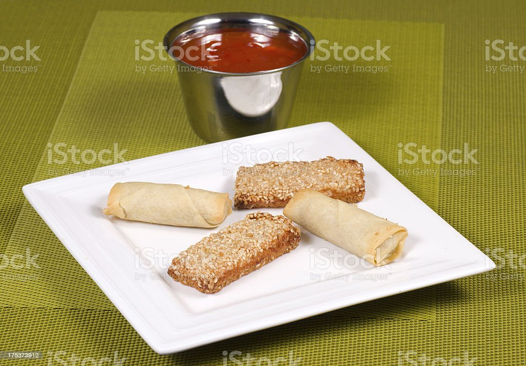Chinese appetizers royalty-free stock photo