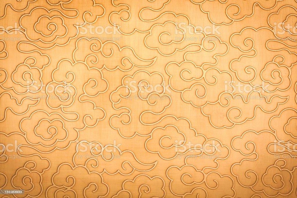 Chinese auspicious clouds pattern stock photo