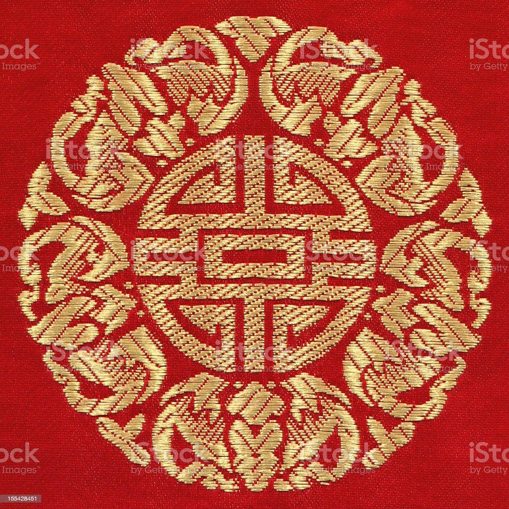 Chinese auspicious pattern background stock photo