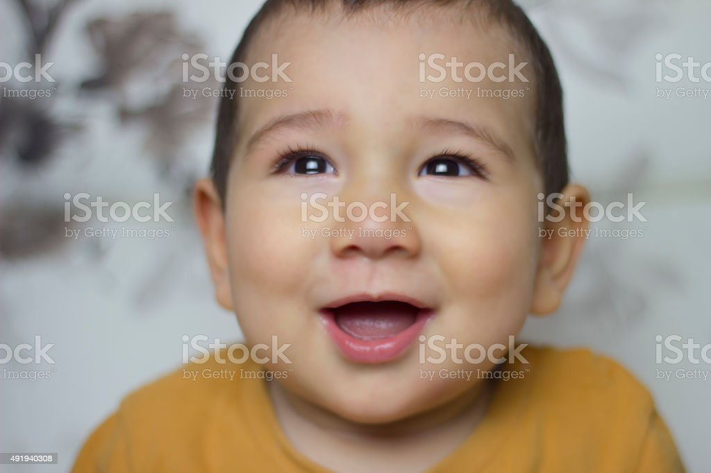 Chinese baby who is ill stock photo