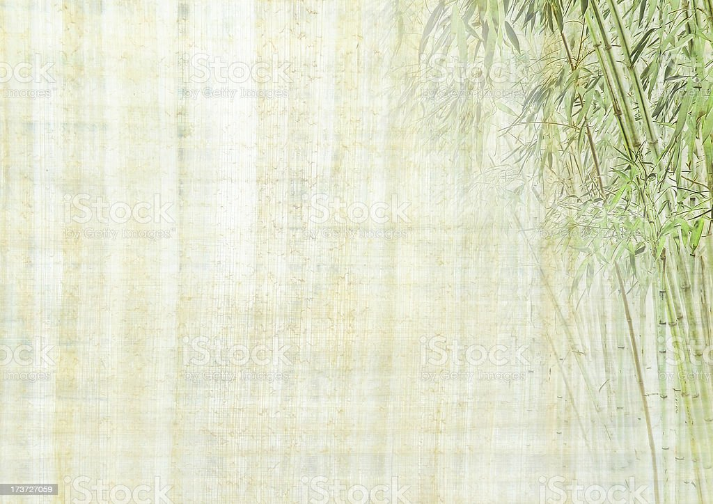 Chinese background with bamboo stock photo