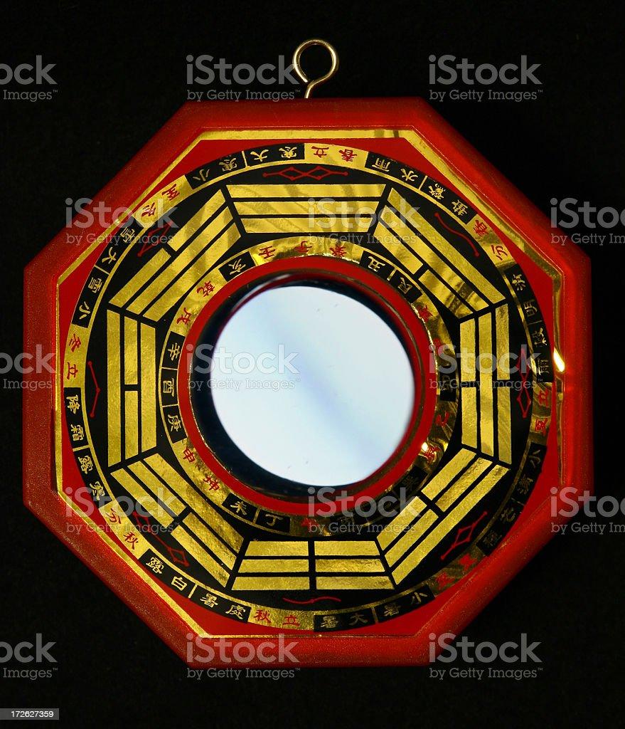 Chinese Bagua Mirror stock photo