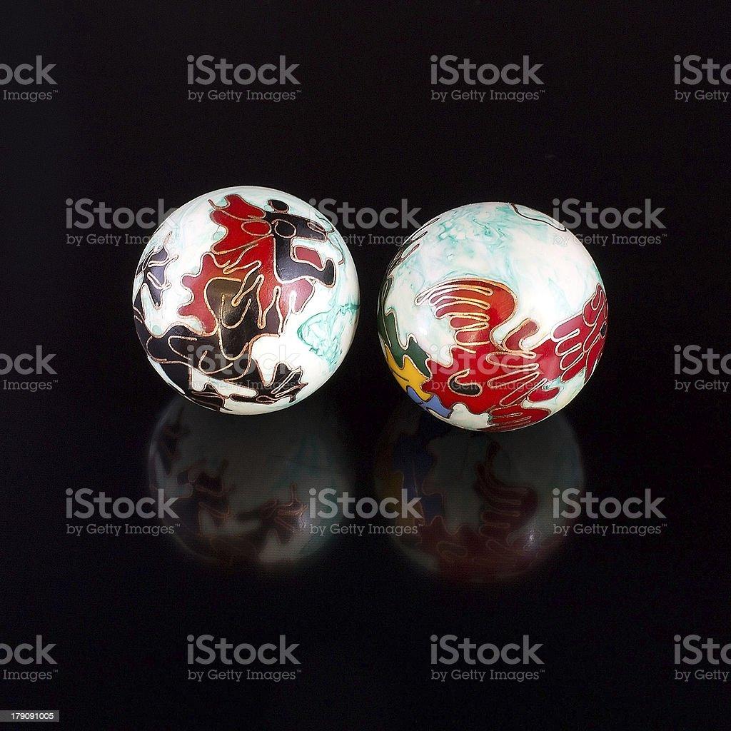 Chinese balls royalty-free stock photo