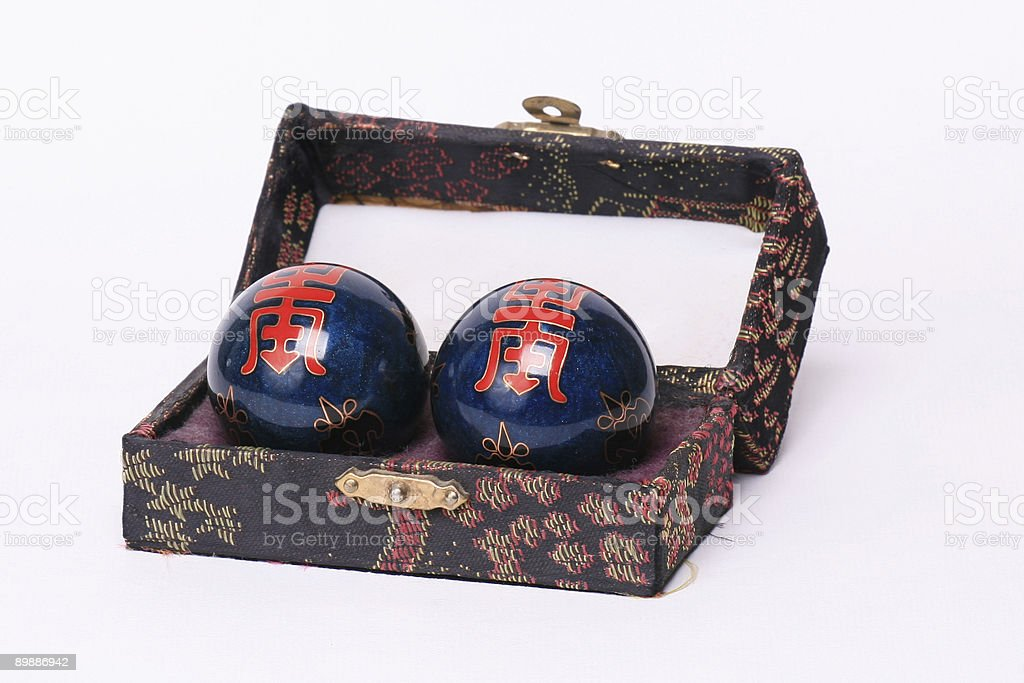 Chinese Balls With Long Life Symbol stock photo