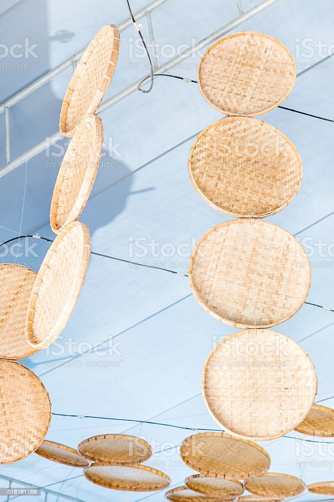 Chinese Bamboo Steamer, chinese people use it to solarize   the crop stock photo