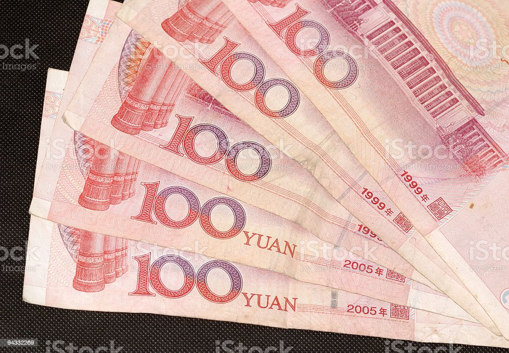 Chinese Banknote 100 royalty-free stock photo