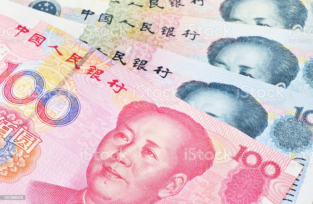 Chinese banknotes. stock photo