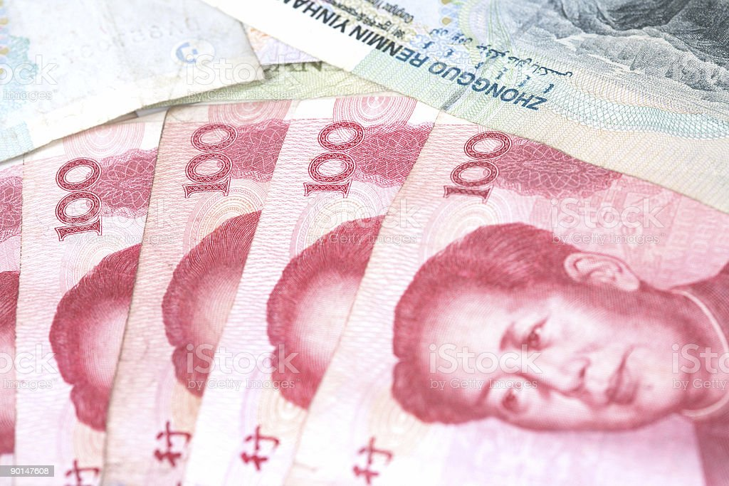 Chinese Banknotes stock photo