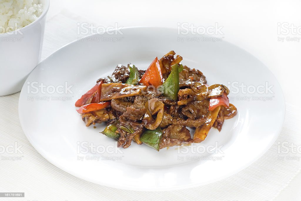 Chinese beef and vegetables royalty-free stock photo