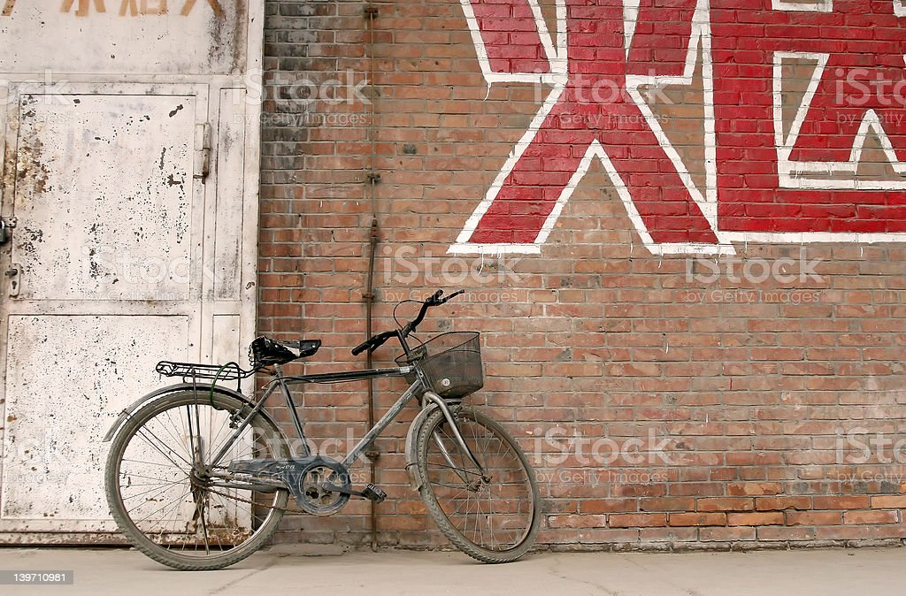 Chinese Bicycle royalty-free stock photo