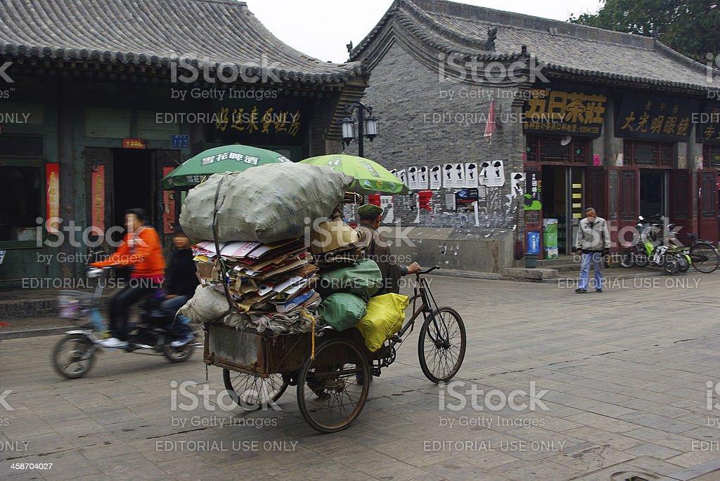 Chinese biker royalty-free stock photo