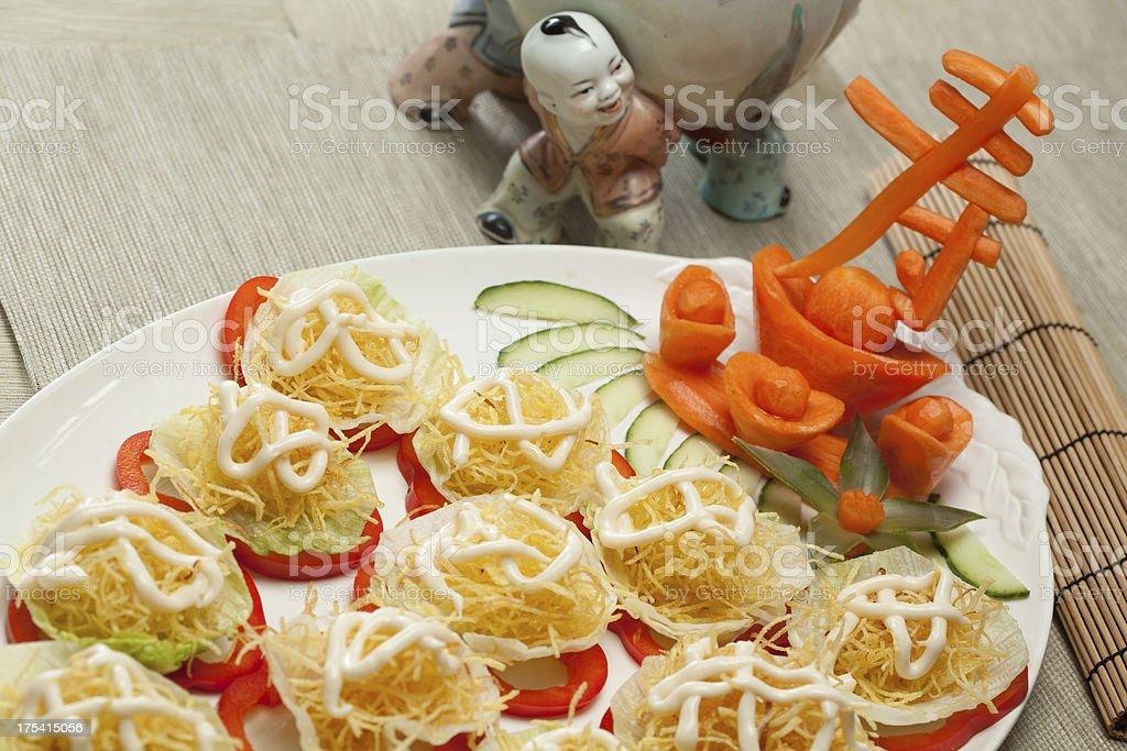 chinese birthday food royalty-free stock photo