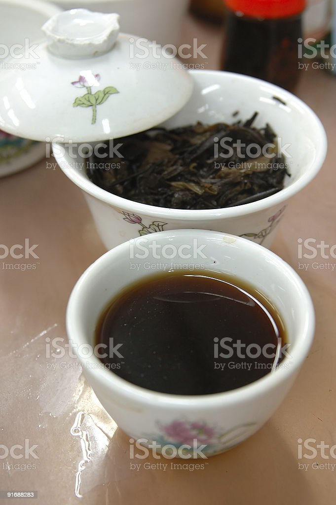 Chinese black tea royalty-free stock photo