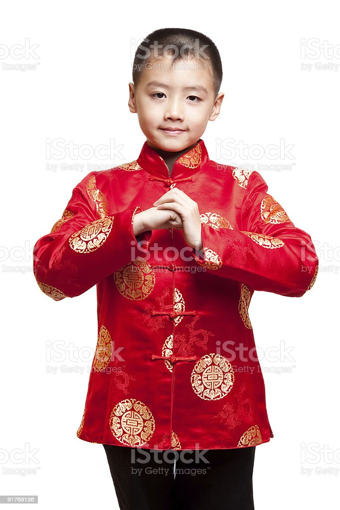 chinese boy one royalty-free stock photo