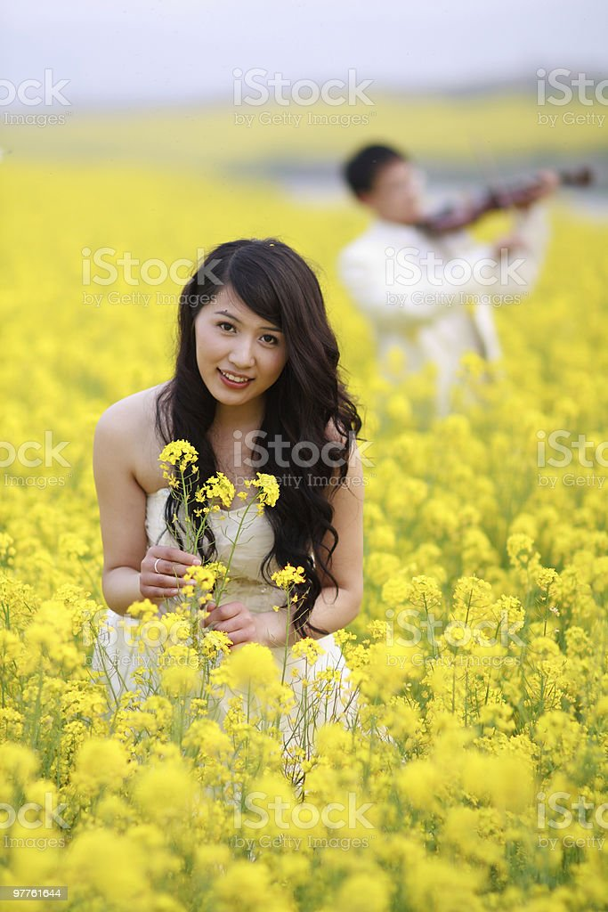 Chinese bride stock photo
