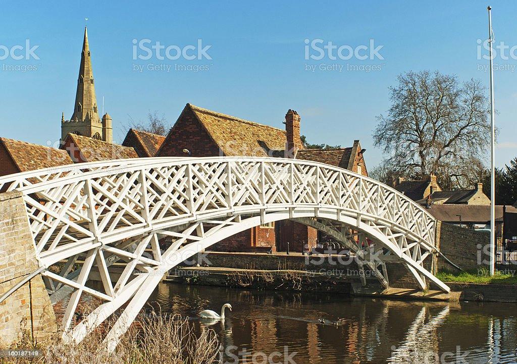 Chinese Bridge at Godmanchester, Cambridgeshire stock photo