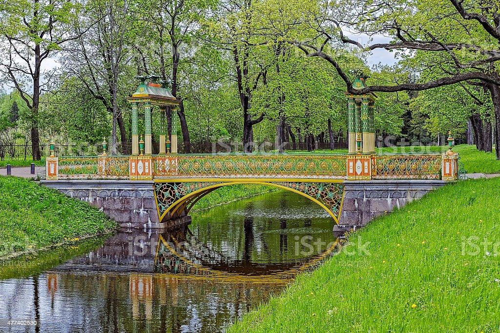Chinese bridge stock photo