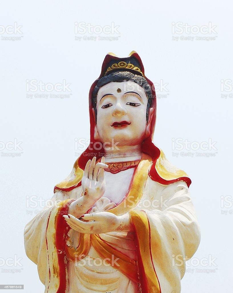 Chinese buddha at Chinese temple royalty-free stock photo