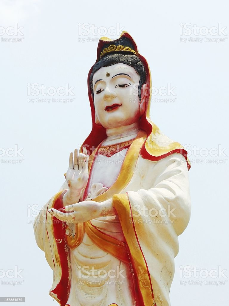 Chinese buddha at Chinese temple royalty-free stock photo