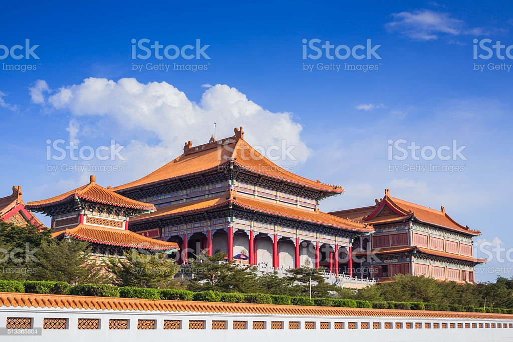 Chinese Buddhist temple in Bangkok names 'Wat Mangkon Kamalawat' stock photo
