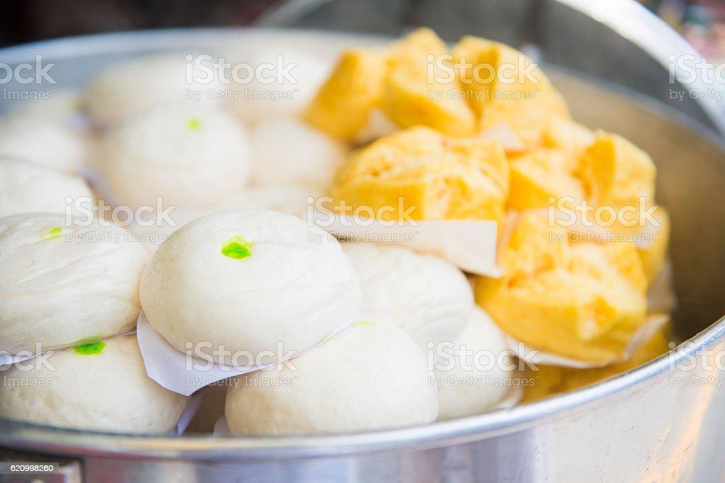Chinese buns and Mantou stock photo