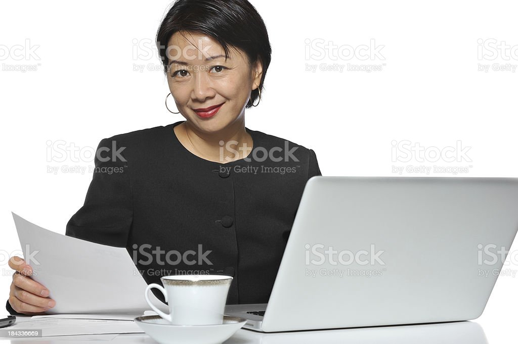 Chinese businesswoman royalty-free stock photo