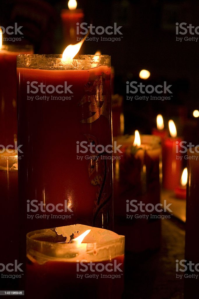 Chinese Candles royalty-free stock photo