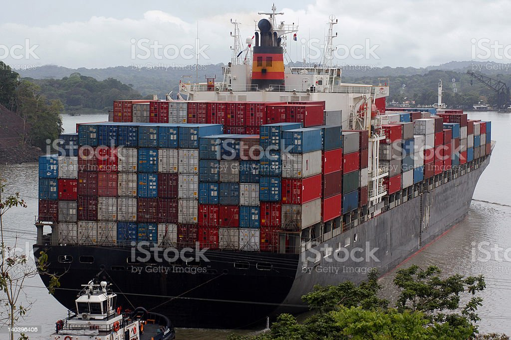 Chinese cargo ship royalty-free stock photo