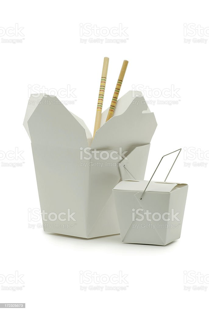 Chinese Carryout Food Containers stock photo