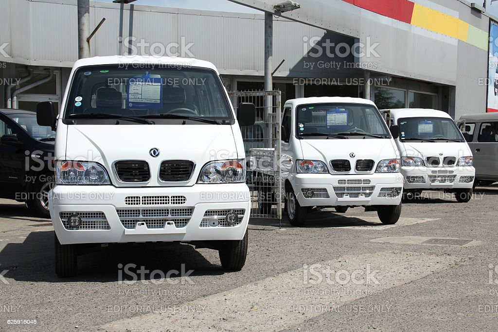 DFSK - Chinese cars on the exposition stock photo