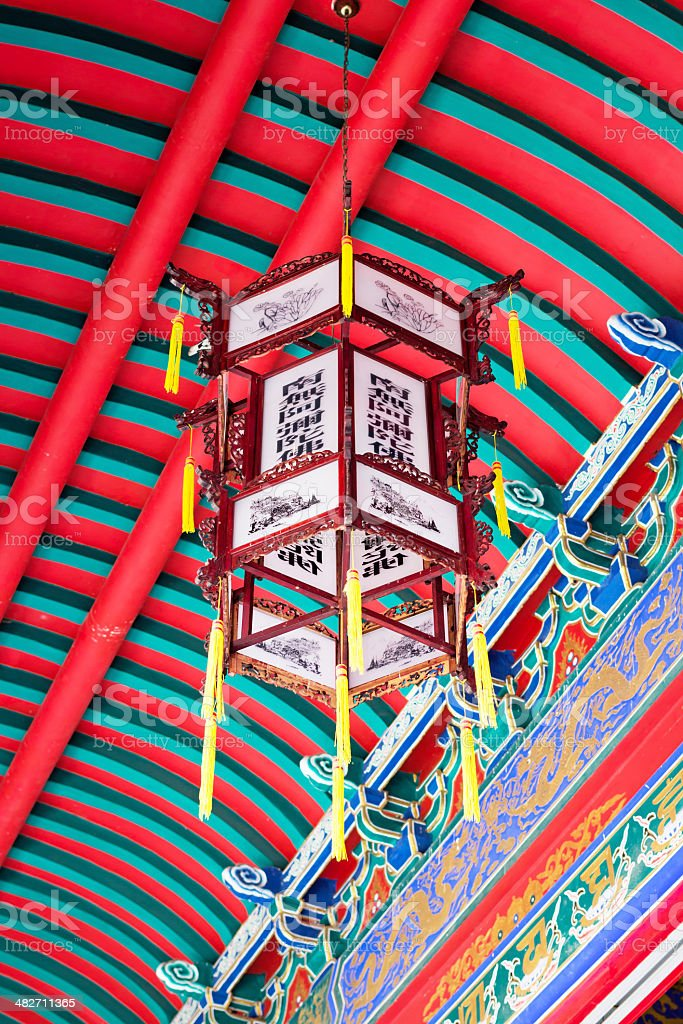 Chinese ceiling lamp royalty-free stock photo