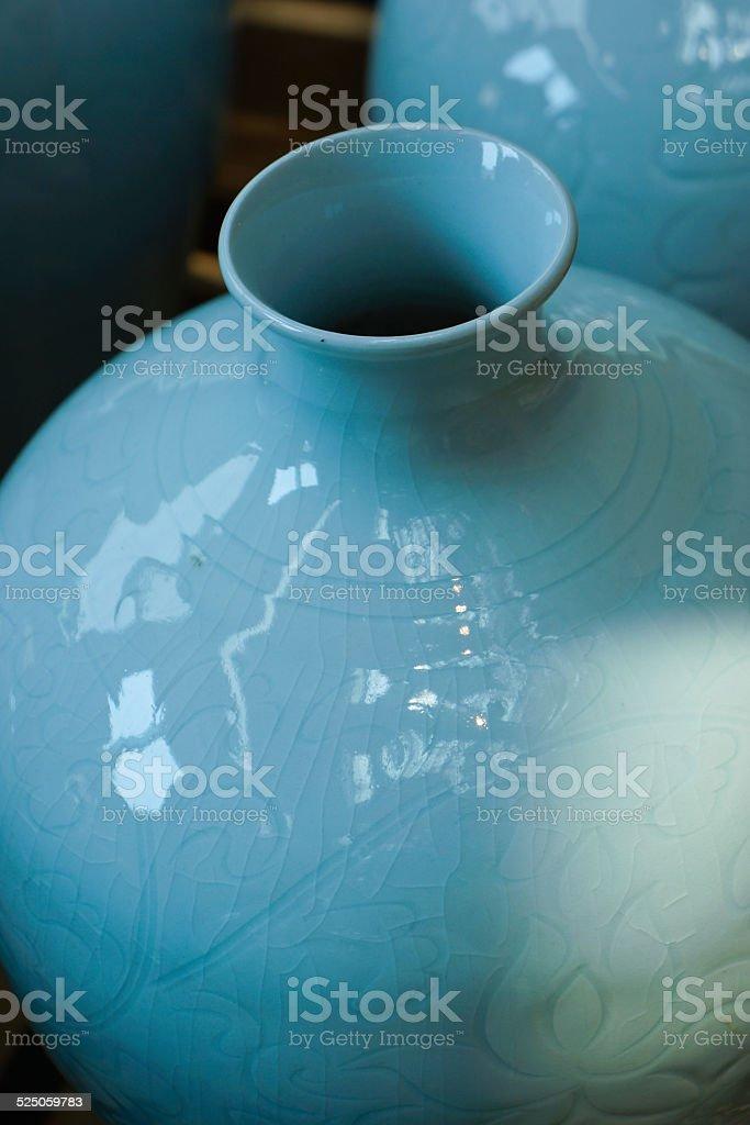 Chinese Celadon Vases stock photo