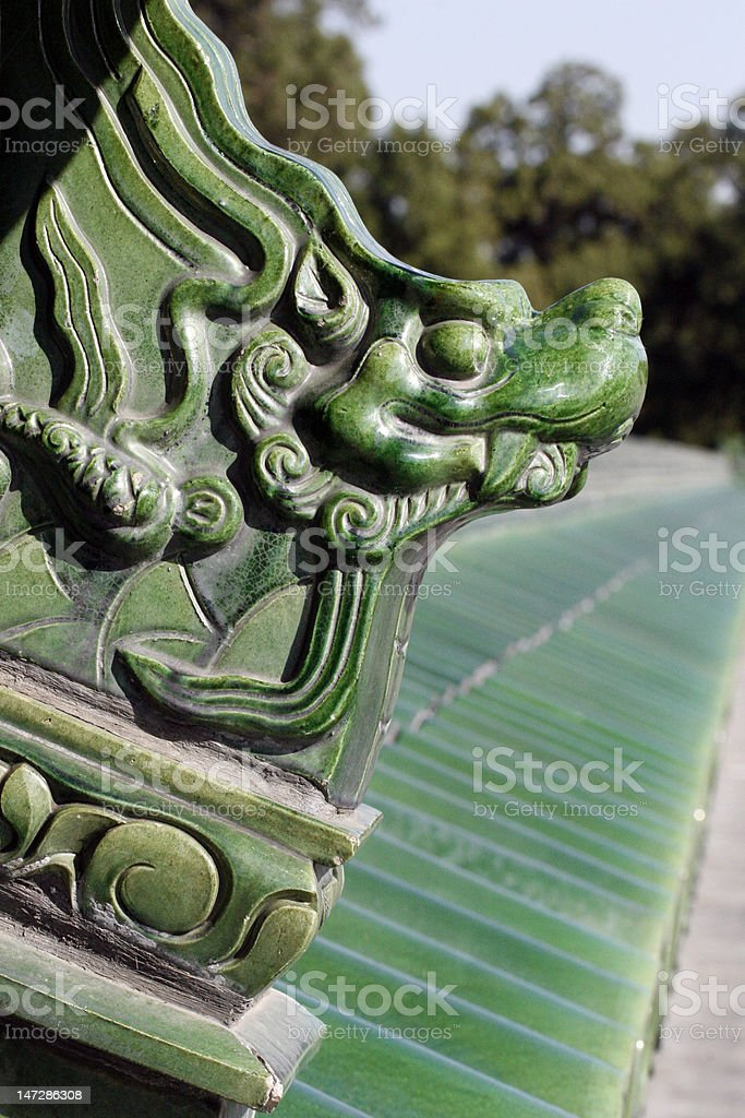 Chinese Ceramic Decoration royalty-free stock photo