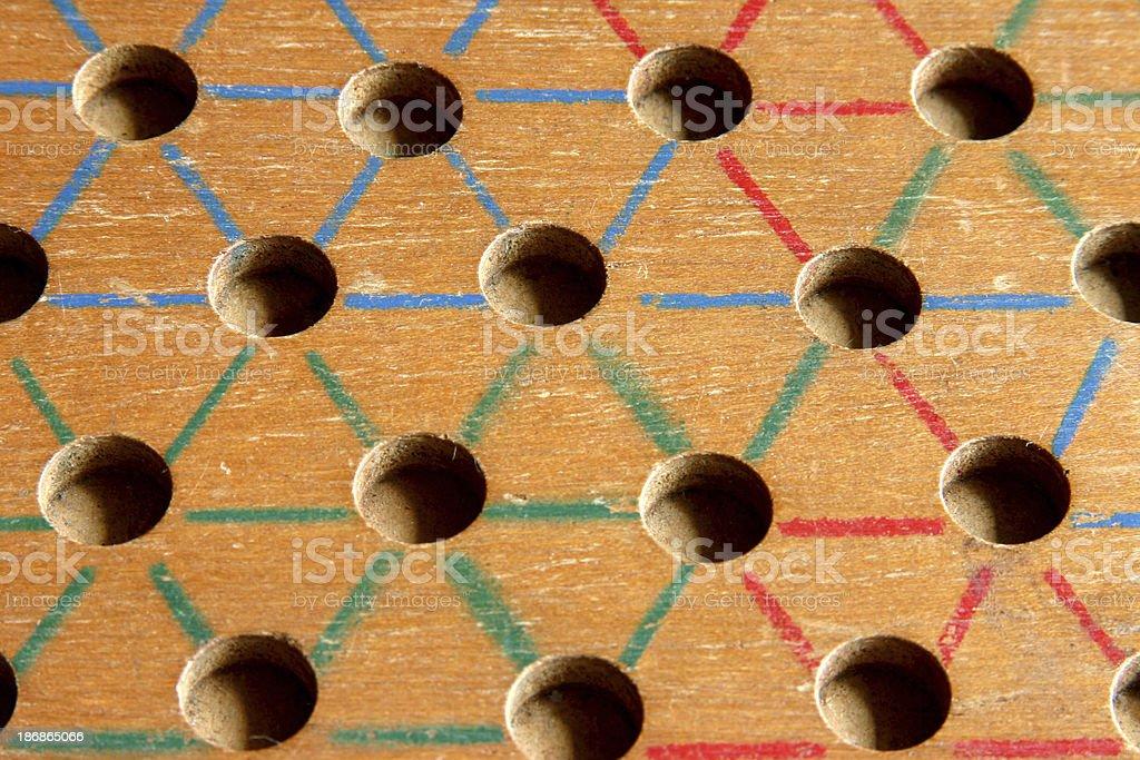 Chinese Checker Board stock photo